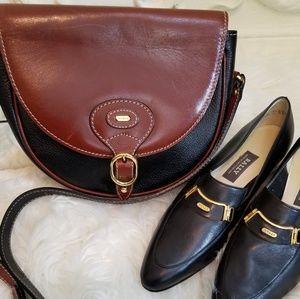 Bally Leather Messenger Crossbody Bag Purse